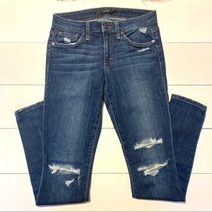 JOES JEANS-THE SKINNY FIT distressed blue jeans
